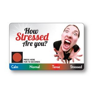 .010 White Plastic Stress Card Special, Full color on front, black on back