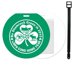 Jumbo Round Slip-In Pocket Plastic Golf/Bag Tag