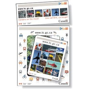 Stock Magnetic Photo Frame / Rectangle Pop-out & Coupon, Full Color Imprint