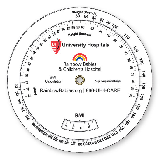 3 Wheel Body Mass Index Calculator (10-40 kg/35-200 kg), Spot Color