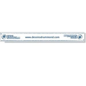 ".040 White Matte Styrene Plastic 12"" Rulers / with square corners (1.375"" x"