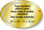 Custom Bright Gold Foil Paper Flexo-Printed Stock Oval Roll Labels (2