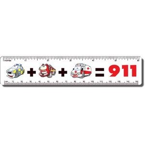 ".040 White Matte Styrene Plastic 6"" Rulers / with round corners (1.25"" x 6."