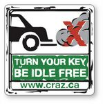 Custom 25 to 36 square inch Clear Cling Vinyl Decal Static Face