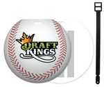 Custom Stock Baseball or Softball Design Luggage Tag Full Color front imprint. Write-on ID panels on back