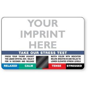 .020 Plastic Stress Card Special, Full color front and back