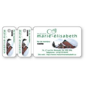 Premium Wallet Card & 2 Key Tag Combo, Full Color Front / Black on Back
