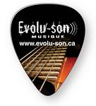 Custom Guitar Pick .030 Compressed Laminated Plastic, Full Color Imprint