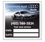 Custom Clear Vinyl Service Decal in Full Color (Read Inside Only) (1.88