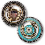 Custom U.S. Coast Guard Core Values Coin