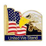 Custom Flag Eagle Pin