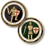 Custom U.S. Armed Forces Armor of God Coin