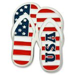 Custom Patriotic Flip Flops Lapel Pin