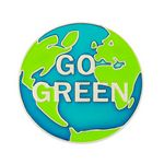 Custom Go Green Pin - World