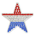 Custom Rhinestone USA Star Pin