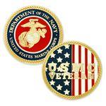 Custom U.S. Marine Corps. Veteran Coin