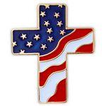 Custom American Flag Cross Pin