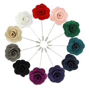 Flower Stick Pin - Cloth Textured