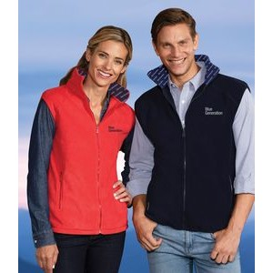 Adult Polar Fleece Vest w/Sublimated Collar
