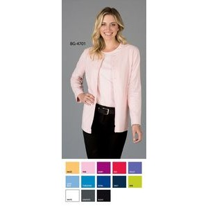 Ladies Long Sleeve Button Front Cardigan Sweater