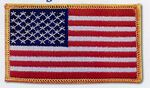 Custom Stock American Flag Patch (3 1/2
