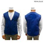 Custom Poplin Vest, Snap Closure, Blank