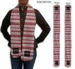 Custom Sublimated or Blank Fleece Holiday Scarf, 6x60