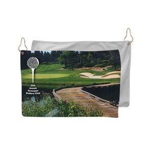 Microfiber Terry Golf Towel, 12x18, Sublimated or Blank