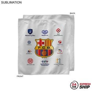 24 Hr Express - Sponsorship Rally Towel, 10x10, Sublimated or Blank