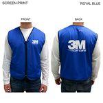 Custom Mesh Vest With 2 Pockets, Zipper Closure, Printed