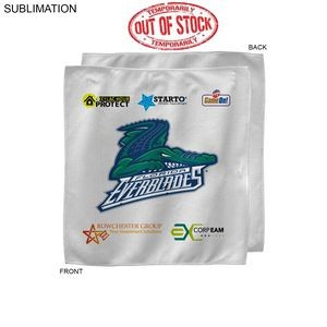 Sponsorship Rally Towel, 15x15, Sublimated or Blank