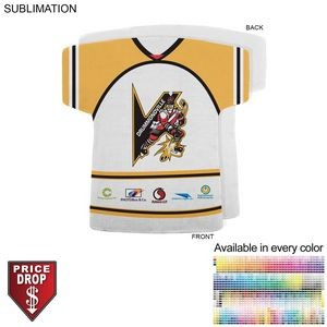 Hockey Jersey Shape Rally Towel, 17x18, Sublimated or Blank