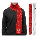 Custom Canada 150 Fleece Sublimated or Blank Scarf, 6x60
