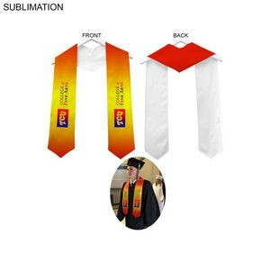 Sublimated or Blank Polyester Graduation Honor Stole