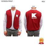 Custom Poplin Vest, Printed or Blank