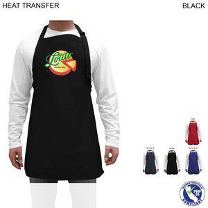 Custom Twill Bib Apron, 25x28, Heat Transfer