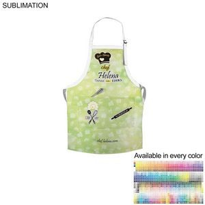 Polyester Bib Apron, 2 Pockets, Sublimated or Blank