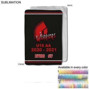 Team Blanket in Ultra Soft Microfleece, 30x40, Baby blanket, Sublimated edge to edge 1 side