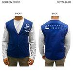 Custom Poplin Vest, Snap Closure, Printed