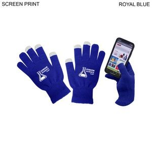 48 Hr Quick Ship - Touch Screen Gloves, Printed or Blank