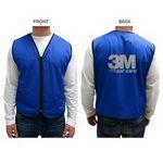 Custom Mesh Vest w/ 2 Pockets & Zipper Closure (Printed)
