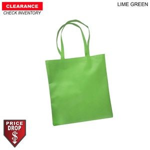 "Non Woven Polypropylene Flat Tote Bag, 15x16, 22"" Handles, 80gsm, Blank Only, In Stock"