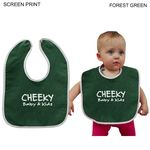 Custom Velour Baby Bib, 11x8, Printed