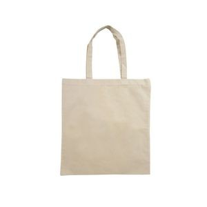 "Cotton Flat Tote, 15x16, 18"" Handles, 5oz, Natural Color, Reinforced stitching, Blank Only"