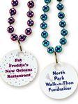 Custom Mardi Gras Beads w/ Printed Disk
