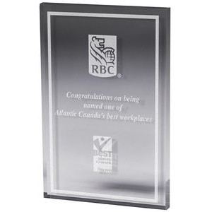 "Clear Rectangle Paper Weight (4""x 6""x 3/8"") Laser Engraved"