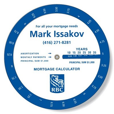 .020 White Plastic Mortgage Wheel Calculator (6