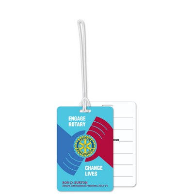 Custom Write-On Luggage Tags .020 Plastic (16 sq/in) Full Colour - 6