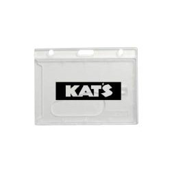 "Horizontal Frosted Rigid Card Holder (2 11/16""x3 11/16"")"