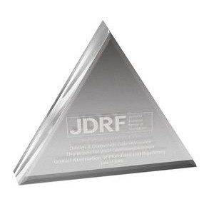 "Clear Triangle Acrylic Paper Weight (4""x 4""x 3/4"") Laser"